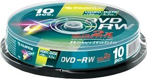 Fujifilm DVD-RW 4.7GB 2x, 10-pack Spindle (48132)