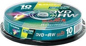 Fujifilm DVD-RW 4.7GB 2x, Cake Box 10 sztuk (48132)