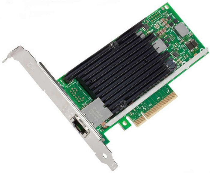 Intel X540-T1, 1x 10GBase-T, PCIe 2.1 x8, low profile, retail (X540T1)
