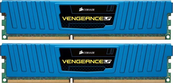 Corsair Vengeance LP blau DIMM Kit   8GB, DDR3-1600, CL9-9-9-24 (CML8GX3M2A1600C9B)