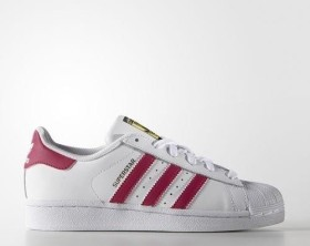 adidas Superstar white/bold pink (Junior) (B23644)