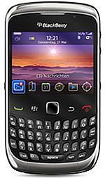 BlackBerry 9300 Curve 3G with branding -- The RIM and BlackBerry families of related marks, images and symbols are the exclusive properties of, and trademarks of, Research In Motion – used by permission