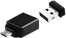 Verbatim Store 'n' Stay Nano mit Micro USB-Adapter 64GB, USB-A 2.0/USB 2.0 Micro-B (49329)