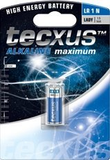 Tecxus Alkaline Maximum Lady (N/LR1), Alkali, 1.5V (23640)