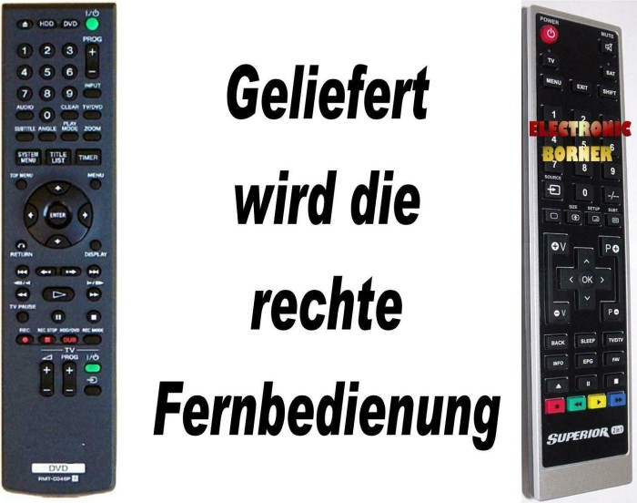 Sony RMT-D246P remote control -- via Amazon Partnerprogramm