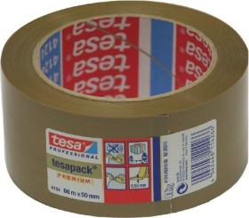 tesa tesafilm 4124 PVC Klebeband braun, 50mm/66m, 1 Stück (04124-00343-00)