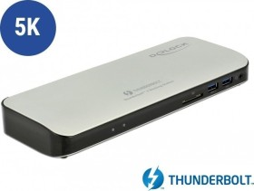 DeLOCK Thunderbolt 3 docking station 5K, Thunderbolt/USB-C 3.0 (87725)
