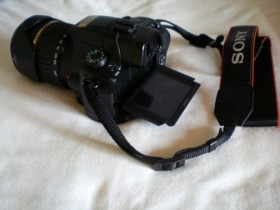 Sony Alpha 37 schwarz mit Objektiv AF 18-55mm DT und 55-200mm DT (SLT-A37Y)