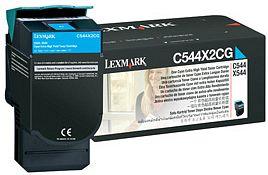 Lexmark C544X2CG Toner cyan hohe Kapazität