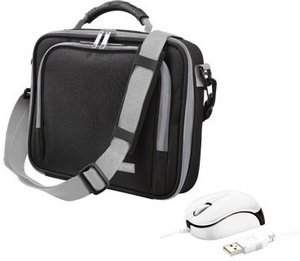 "Trust Netbook Bundle 10"" carrying case and mouse black (16744)"