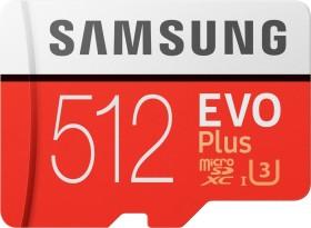 Samsung EVO Plus 2020 R100/W90 microSDXC 512GB Kit, UHS-I U3, Class 10 (MB-MC512HA/EU)