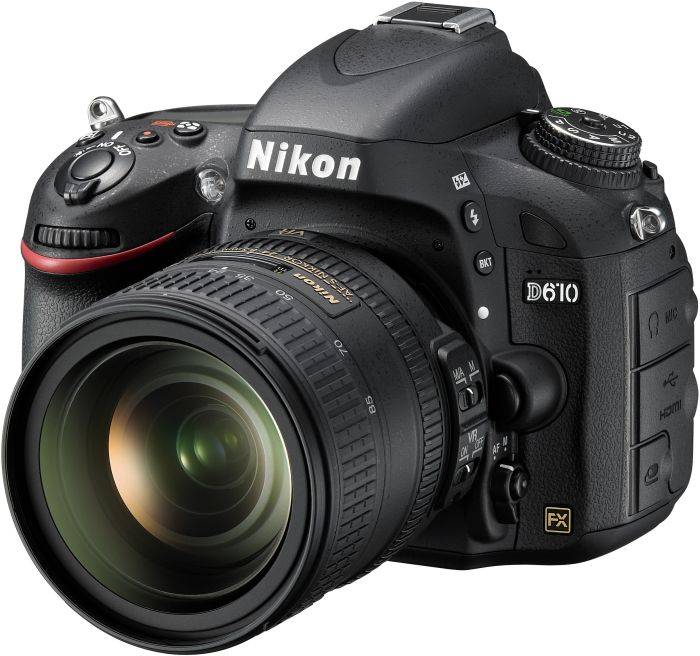 Nikon D610 black with lens AF-S VR 24-85mm 3.5-4.5G ED (VBA430K001)