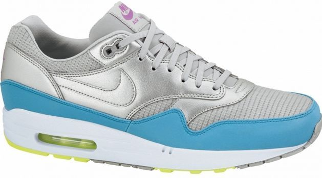 Nike Air Max 1 Metallic Silver/Current Blue -- ©keller-sports.de