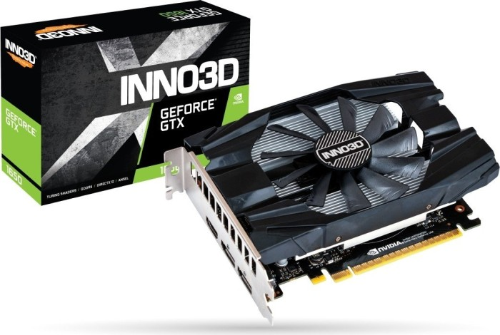 INNO3D GeForce GTX 1650 Compact X1, 4GB GDDR5, HDMI, 2x DP (N16501-04D5-1510VA19)