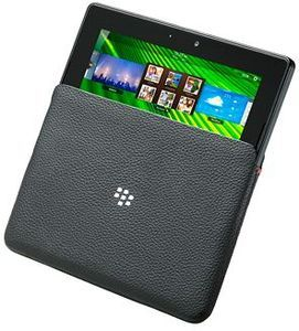 Blackberry leather sleeve for Playbook (ACC-39311-201) -- The RIM and BlackBerry families of related marks, images and symbols are the exclusive properties of, and trademarks of, Research In Motion – used by permission.