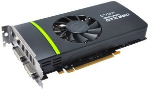 EVGA GeForce GTX 560 Superclocked EVGA-Design, 1GB GDDR5, 2x DVI, mini HDMI (01G-P3-1463)