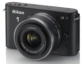 Nikon 1 J2 schwarz mit Objektiv VR 10-30mm 3.5-5.6 und VR 30-110mm 3.8-5.6 (VVA161K003)
