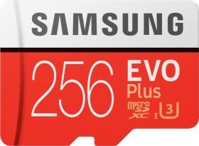 Samsung EVO Plus 2020 R100/W90 microSDXC 256GB Kit, UHS-I U3, Class 10 (MB-MC256HA/EU)