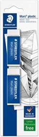 Staedtler Radierer Mars plastic 65x23x13mm, 2er-Pack (52650BK2DA)