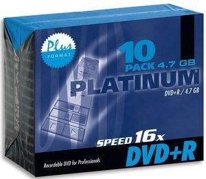 BestMedia Platinum DVD+R 4.7GB 16x, 10er Slimcase (100100)