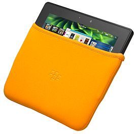 BlackBerry neoprene sleeve for Playbook orange (ACC-39320-202) -- The RIM and BlackBerry families of related marks, images and symbols are the exclusive properties of, and trademarks of, Research In Motion – used by permission.