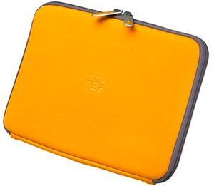 BlackBerry neoprene Zip sleeve for Playbook orange/grey (ACC-39318-203) -- The RIM and BlackBerry families of related marks, images and symbols are the exclusive properties of, and trademarks of, Research In Motion – used by permission.