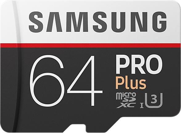 Samsung R100/W90 microSDXC PRO Plus [2017] 64GB Kit, UHS-I U3, Class 10 (MB-MD64GA/EU)