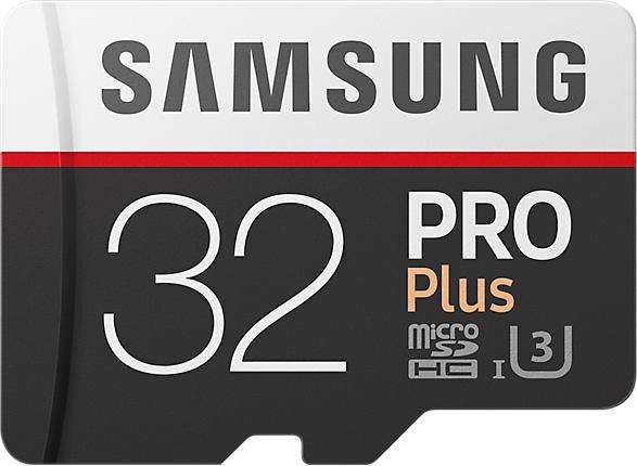 Samsung R100/W90 microSDHC PRO Plus [2017] 32GB Kit, UHS-I U3, Class 10 (MB-MD32GA/EU)