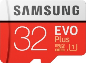 Samsung R95/W20 microSDHC EVO Plus 2017 32GB Kit, UHS-I, Class 10 (MB-MC32GA/EU)