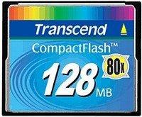 Transcend CompactFlash Card [CF] 80x 128MB (TS128MCF80)