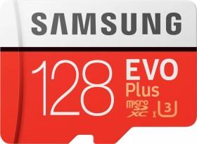 Samsung EVO Plus 2017 R100/W90 microSDXC 128GB Kit, UHS-I U3, Class 10 (MB-MC128GA/EU)