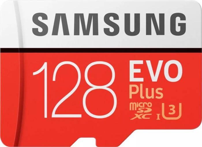 Samsung R100/W90 microSDXC EVO Plus [2017] 128GB Kit, UHS-I U3, Class 10 (MB-MC128GA/EU)