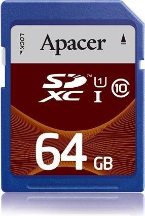 Apacer R10 SDXC 64GB, UHS-I, Class 10 (AP64GSDXC10U1-R)