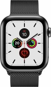 Apple Watch Series 5 (GPS + Cellular) 44mm Edelstahl space schwarz mit Milanaise-Armband space schwarz (MWWL2FD)