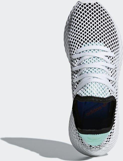 67a8c5a0f8c4e adidas Deerupt Runner core black easy green white (B28076) starting ...