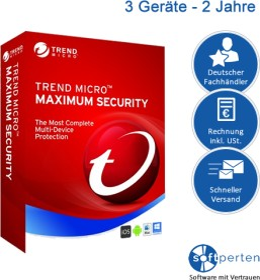 Trend Micro Maximum Security 2020, 3 User, 2 Jahre, ESD (deutsch) (PC) (TI01051724)