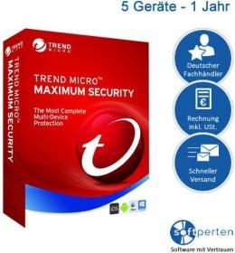 Trend Micro Maximum Security 2020, 5 User, 1 Jahr, ESD (deutsch) (PC) (TI01051709)