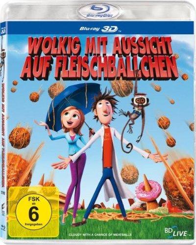 Wolkig mit Aussicht auf Fleischbällchen (3D) (Blu-ray) -- via Amazon Partnerprogramm