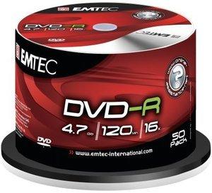 Emtec DVD-R 4.7GB 16x, 50-pack Spindle