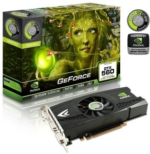 Point of View GeForce GTX 560, 1GB GDDR5, VGA, DVI, HDMI (VGA-560-B1-1024-1)