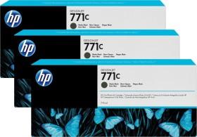HP Tinte 771C schwarz matt, 3er-Pack (B6Y31A)
