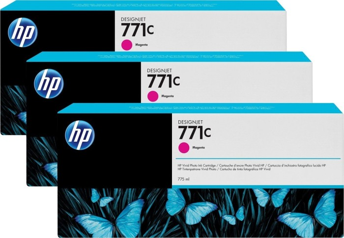 HP ink Nr 771c magenta, 3-pack (B6Y33A)