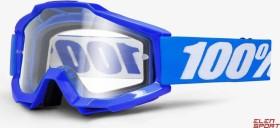 100% Accuri Goggle reflex blue/clear lens (50200-002-02)