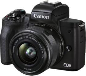 Canon EOS M50 Mark II schwarz mit Objektiv EF-M 15-45mm 3.5-6.3 IS STM (4728C007)