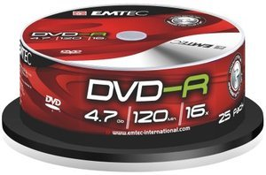 Emtec DVD-R 4.7GB 16x, 25-pack Spindle