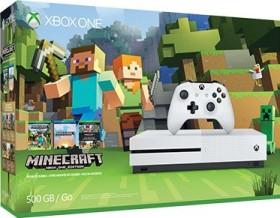 Microsoft Xbox One S - 500GB Minecraft Favorites Bundle weiß