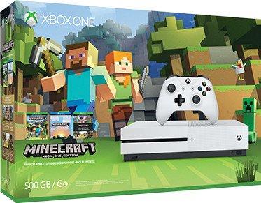 Microsoft Xbox One S - 500GB, Minecraft Favorites Bundle, weiß