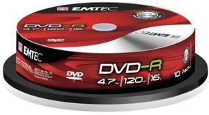 Emtec DVD-R 4.7GB 16x, 10-pack Spindle