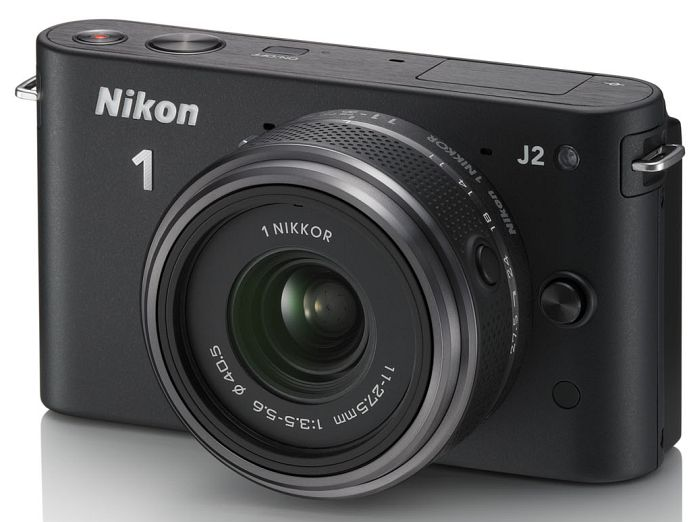 Nikon 1 J2 (EVIL) black with lens 11-27.5mm 3.5-5.6 (VVA161K005)