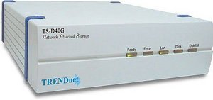 TRENDnet TS-D40G 10/100Mbit 40GB NAS with print server